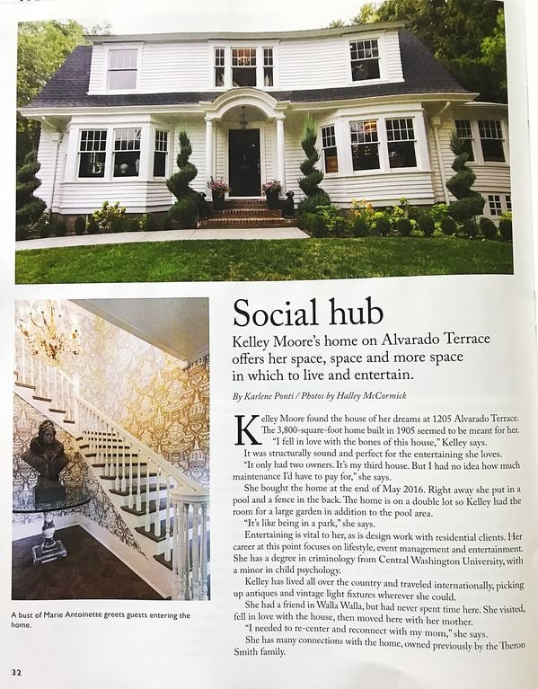 Feature story in Walla Walla Lifestyle Magazine in November 2017