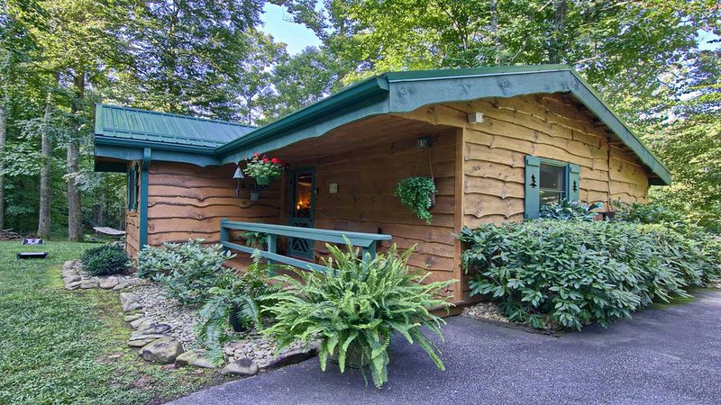 Romantic Mountain Getaway  on 12 Acres with Creek, Hot Tub & Fireplace- Sleeps 2, holiday rental in Candler