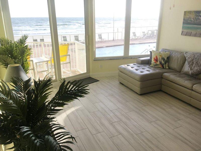 First Floor, Direct Ocean Front, 2 BR Kings/ 2.5 BA, Queen Murphy, Pet 20 lb Max, vacation rental in Ponce Inlet