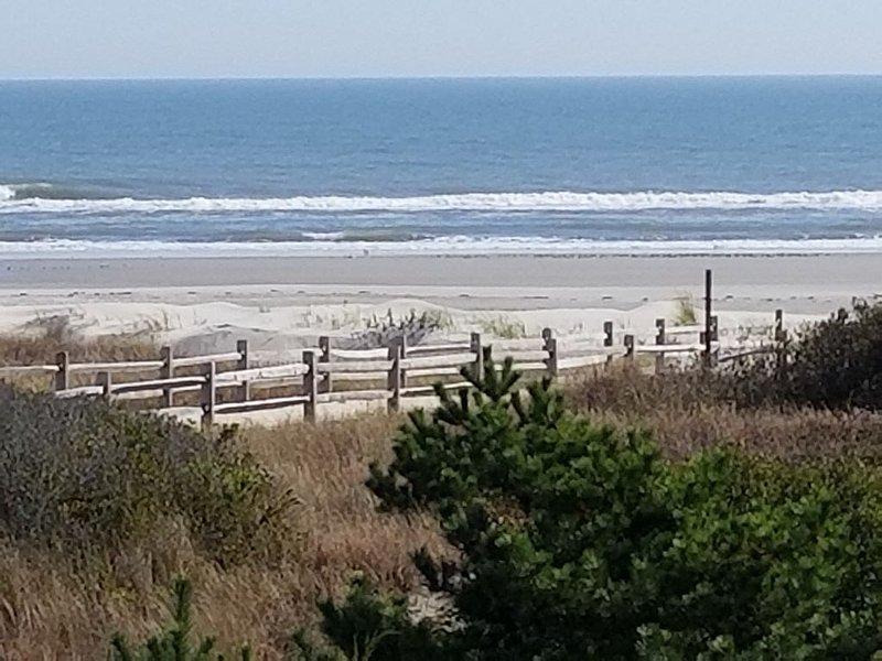 Another view of beach, ocean, dunes from upper deck