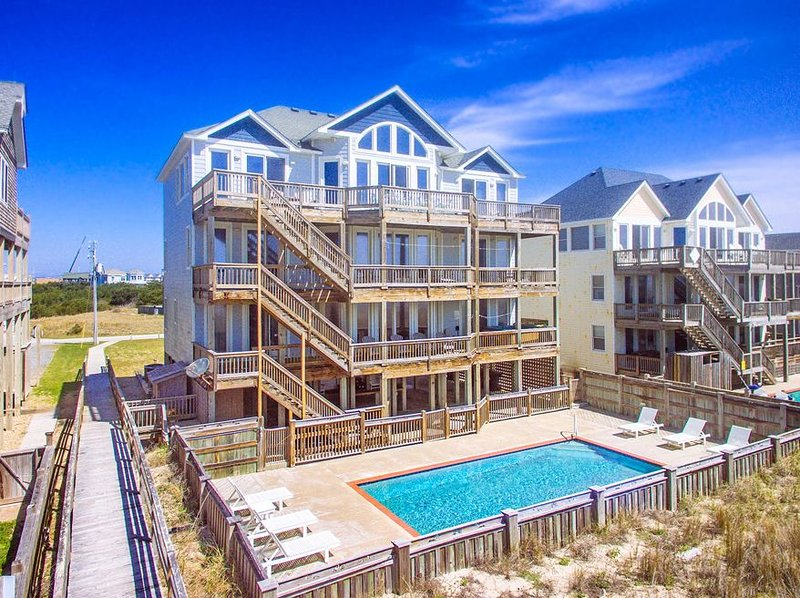 Amazing Oceanfront View Hatteras-Elevator, Pool, HotTub, GameRm, Beach Boardwalk, holiday rental in Hatteras