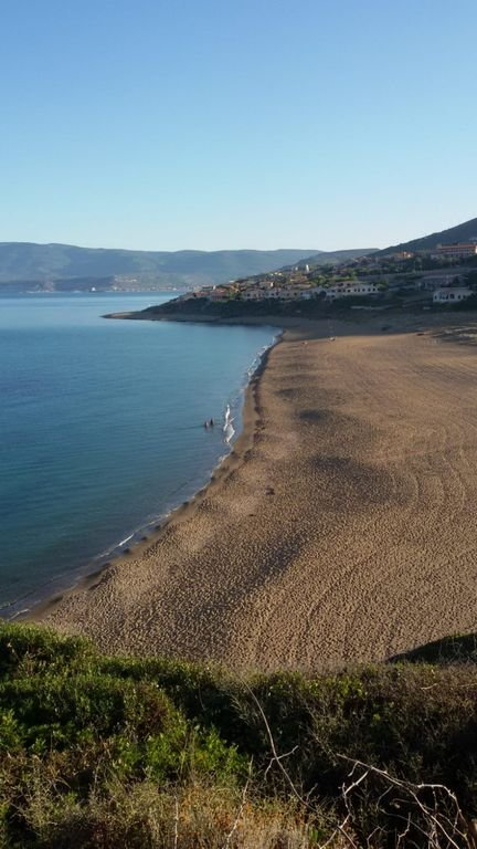 Porto Alabe beach from above
