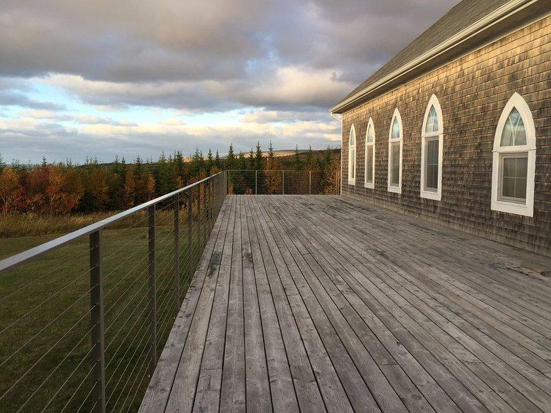 The deck approaching sundown