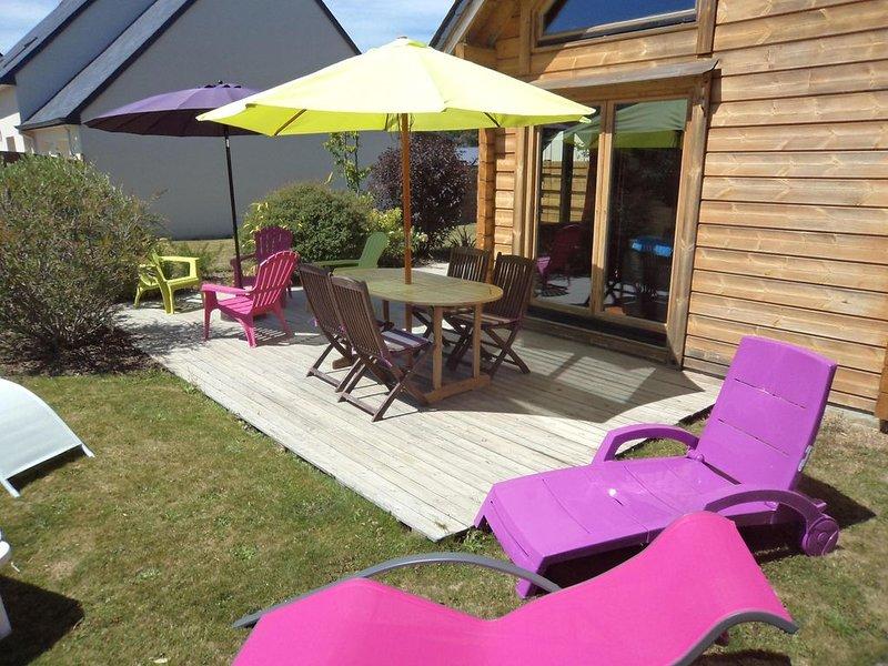 Promotion - maison bois en bretagne proximité St Malo Dinan, holiday rental in Henansal