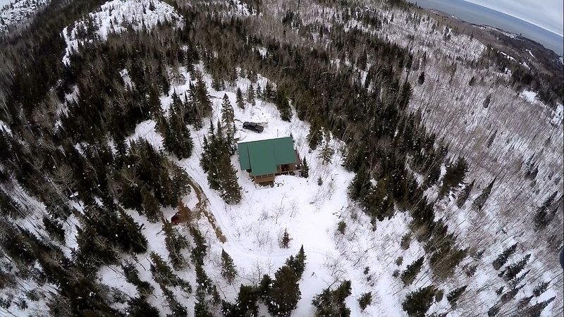 Winter aerial photo captured by a guest