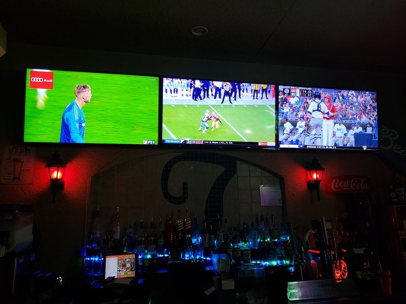 TV's  in sport bar poolside