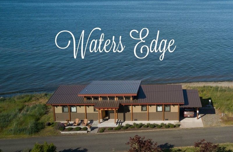 Modern Custom Home with Beach Access, Waterfront and Mountain Views  Modern Cust, vacation rental in Sequim