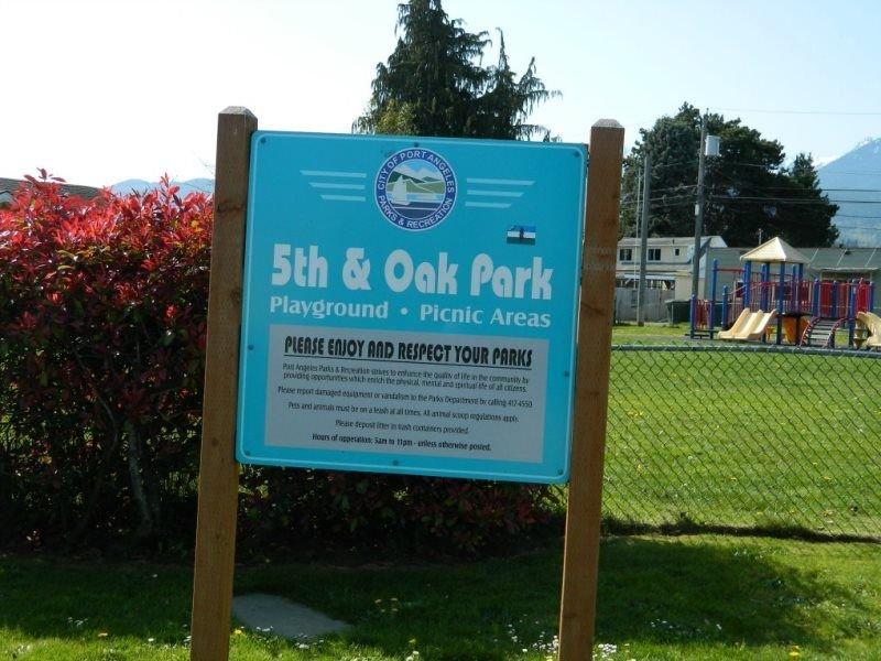 Park across Street with play area for kiddos