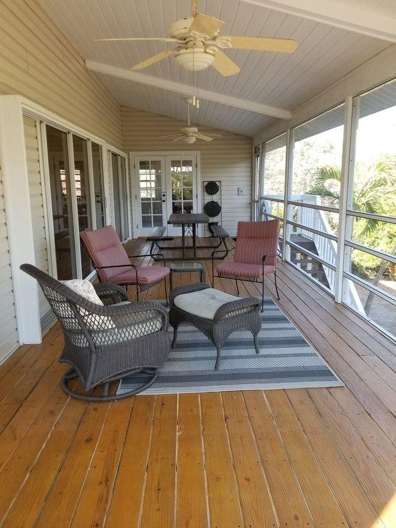 Back veranda dalla camera da letto principale