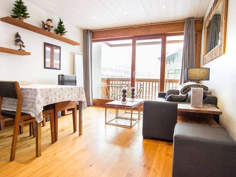 3 pièces de standing,  centre ville, balcon vue Mont Blanc , 2 parkings privés, alquiler de vacaciones en Chamonix
