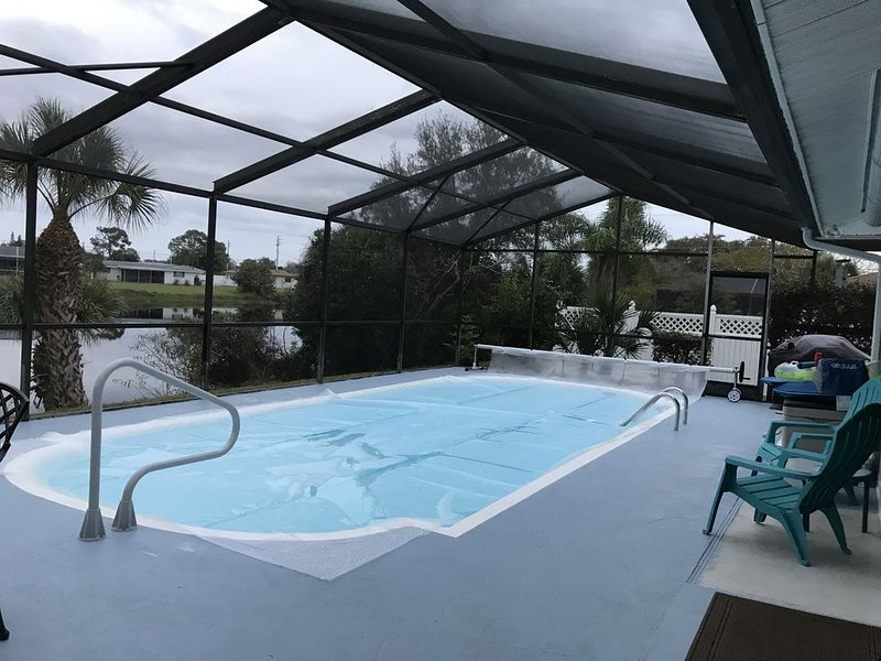 Beautiful Large Heated Pool at 87 Degrees by the Private Lake!