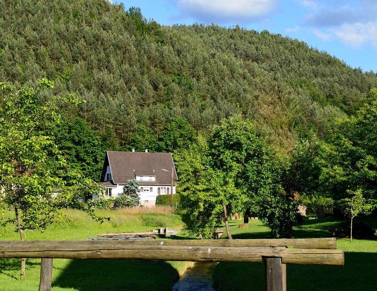Gite tout confort, calme et indépendant avec piscine au coeur des Vosges du Nord, holiday rental in Oberbronn
