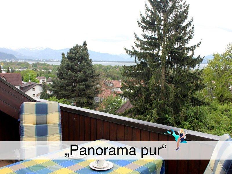 Gemütlich, in ruhiger Lage mit Loggia in Lindau, Blick auf Lindau und die Berge, holiday rental in Bregenz