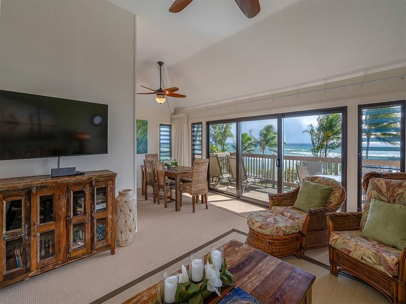 Family Fave for Space+View! Kitchen Ease, Lanai, WiFi, Flat Screens–Kaha Lani 32, holiday rental in Lihue