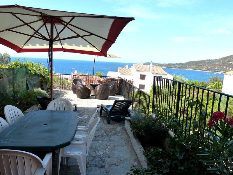 BELLE VILLA AVEC TERRASSE SUPERBE VUE MER - 300m Plage - Sagone - Corse du Sud, holiday rental in Sagone