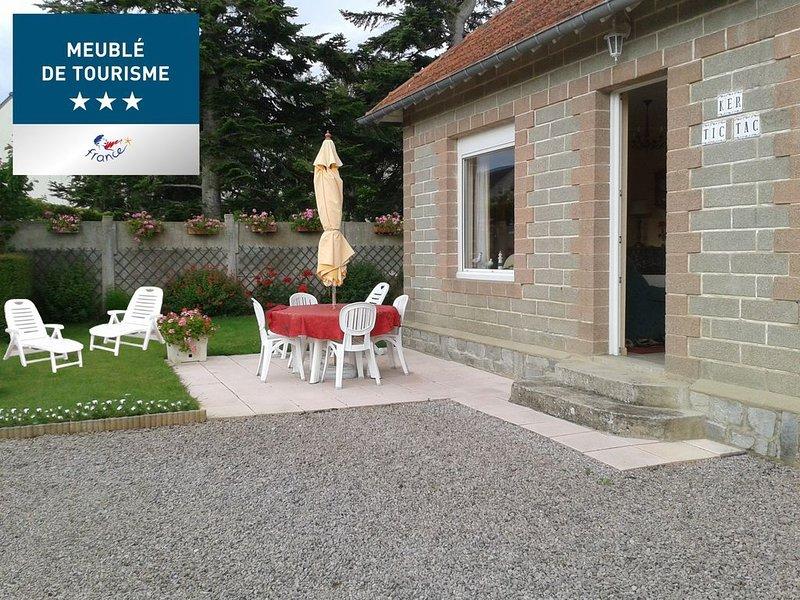 maison T3 meuble de tourisme 3 etoiles, alquiler vacacional en Saint-Cast le Guildo