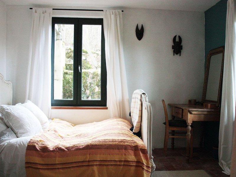 B&B: 18m2 Double Bedroom & Ensuite in Artist's House, vacation rental in Saint-Igny-de-Vers
