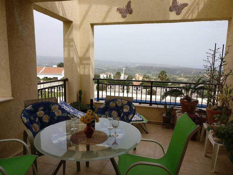 Pissouri 2 Bed Apt. 2 Pools.  2 Balconies FabulousPanoramic Mountain/Sea Views., holiday rental in Pissouri