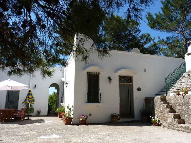 An idyllic country villa  and trullo with pool set in peaceful private grounds., holiday rental in Ceglie Messapica
