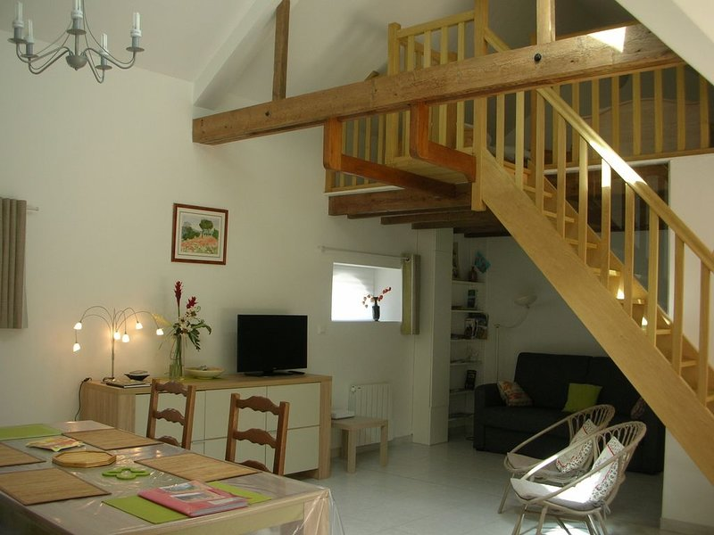 Gîte reposant 60 m² en centre ville dans cadre verdoyant, location de vacances à Eure-et-Loir