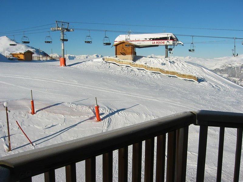 Studio 4 people. Ski-in ski-out, vacation rental in Macot-la-Plagne