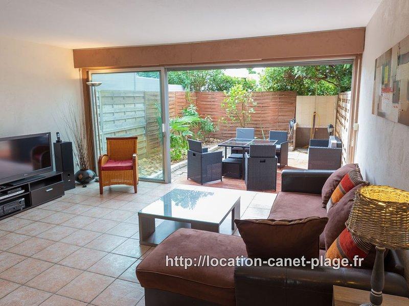 La 402 – Très agréable maison 3 étoiles, 6 pers. avec garage, plage à 150m., holiday rental in Canet-en-Roussillon