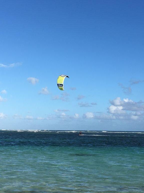 Kite surf lagoon of Sainte Anne