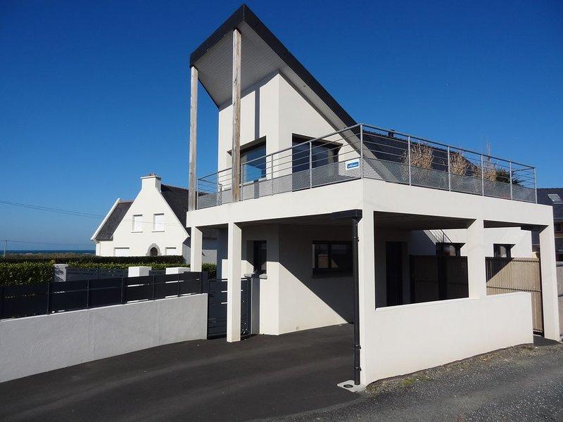 Maison individuelle avec vue sur mer à 2 pas de la plage du Royau, location de vacances à Perros-Guirec