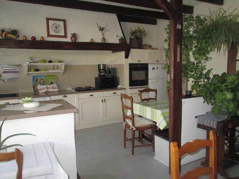 Maison confortable Wi-Fi  près  tous commerces 8 adultes + 1 bébé  animaux oui, alquiler vacacional en La Gripperie-Saint-Symphorien