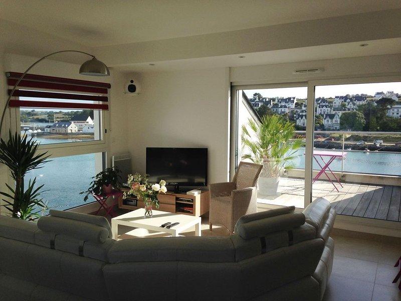 Grand appartement de standing avec vue sur le port d'Audierne, Bretagne, 2 pers., location de vacances à Audierne