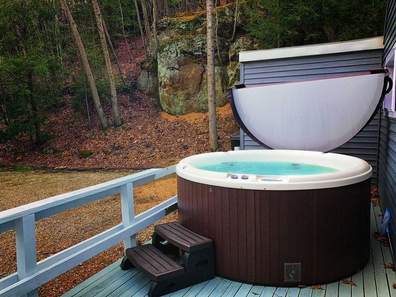 Awesome view from the new 6 person hot tub