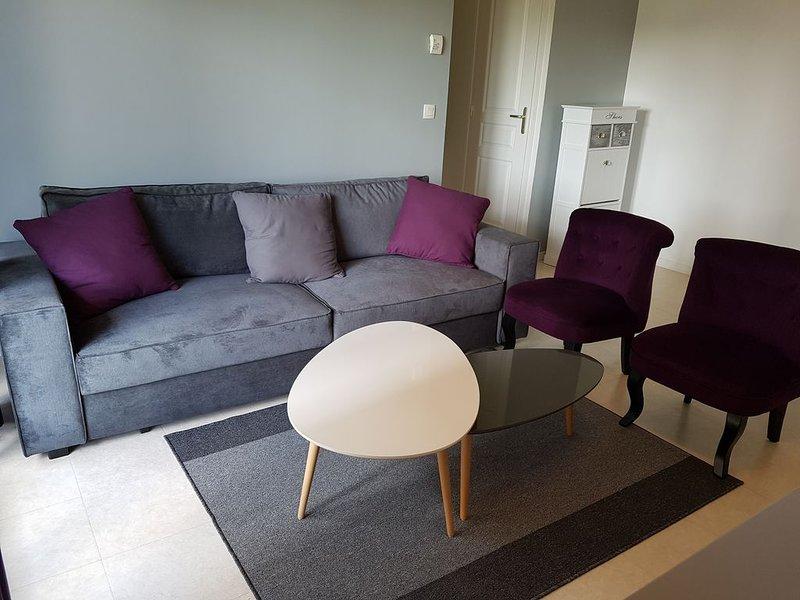 Charmant appartement dans petite résidence a 50m de la plage a luc sur mer, holiday rental in Lion-sur-mer