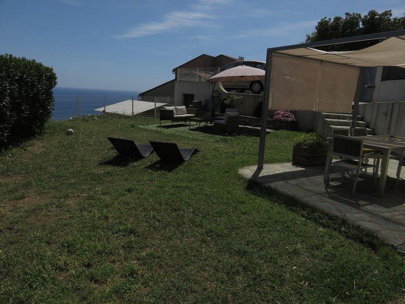 Rez de villa vue mer, vacation rental in Pietranera