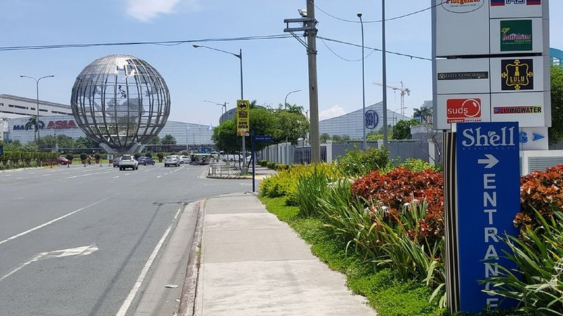 Across the street from Mall of Asia (MOA)