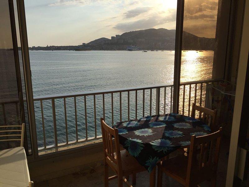 Studio, baie d'Ajaccio, vue mer, direct plage, vacation rental in Mezzavia