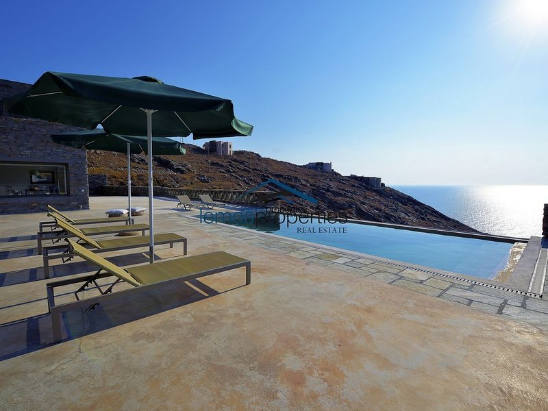 Modern stone villa with a swimming pool, large terrace and  fantastic sea view., holiday rental in Pisses