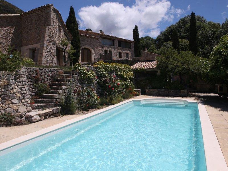Maison traditionnelle totalement rénovée avec vue sur le Ventoux et piscine, location de vacances à Reilhanette