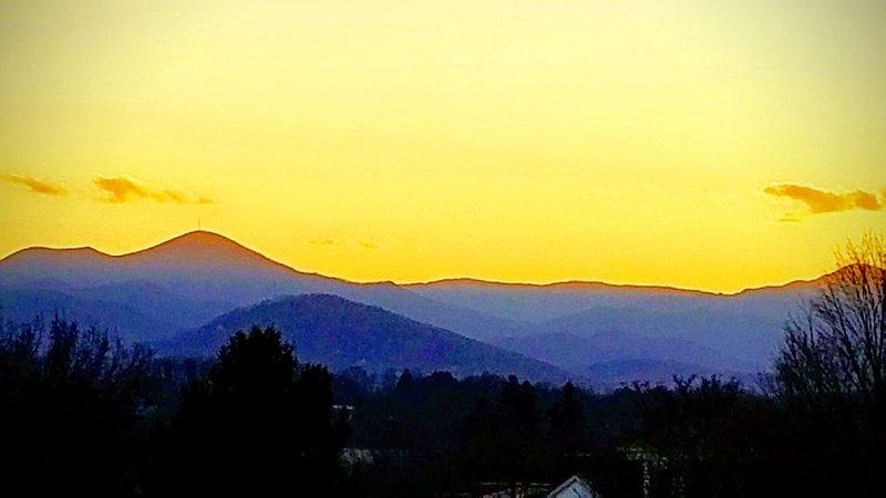 Mountain View als die Sonne untergeht