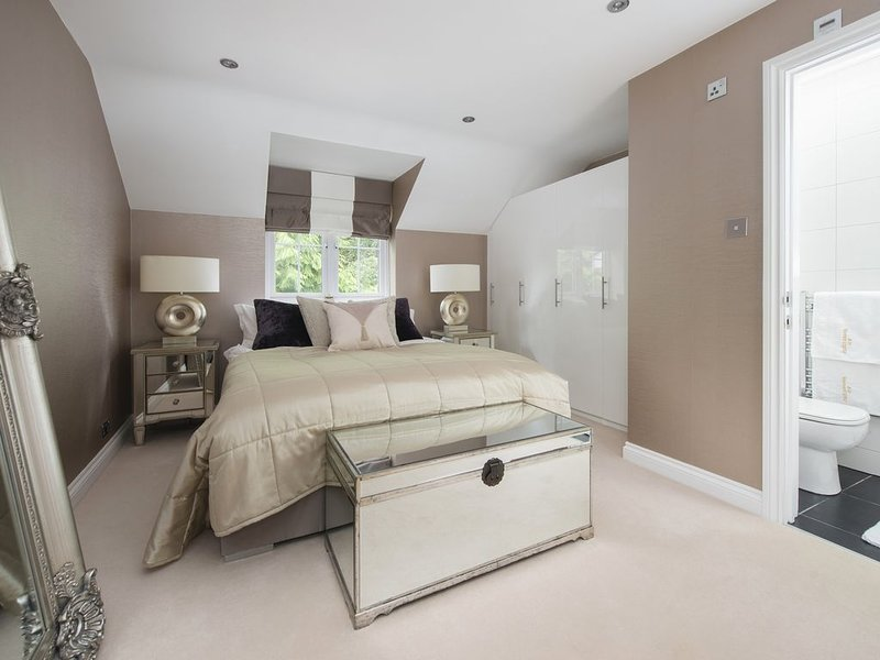 Lovingly decorated annexe in a private family home with private decking, BBQ, holiday rental in Cobham