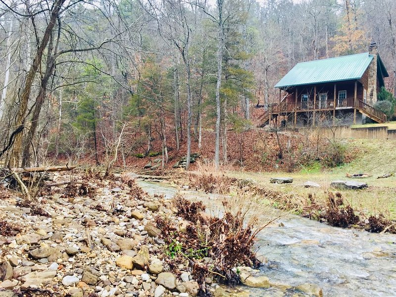 Creekside Cabin - Cozy Cabin Overlooking Year Round Creek, holiday rental in Parthenon