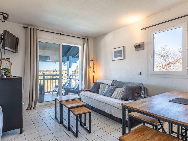 Larrosa - 2 chambres - vue Ocean, piscine et parking, alquiler vacacional en Guéthary (Getaria)
