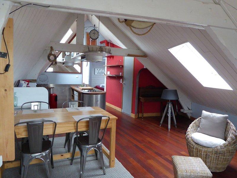 bel appartement renové 3 pieces., aluguéis de temporada em Morbihan