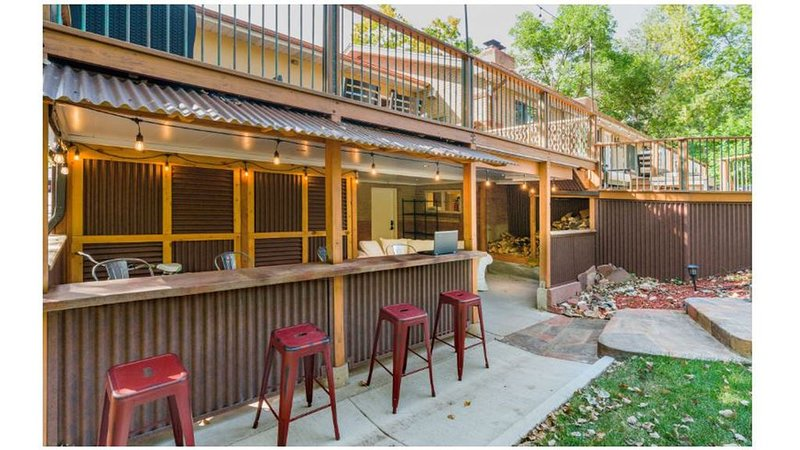 Outdoor Patio and Bar Area