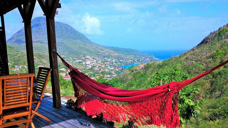 ❤T2 de standing, vue mer, à 2 min des plages, calme, nature, wifi, climatisation, aluguéis de temporada em Les Anses d'Arlet