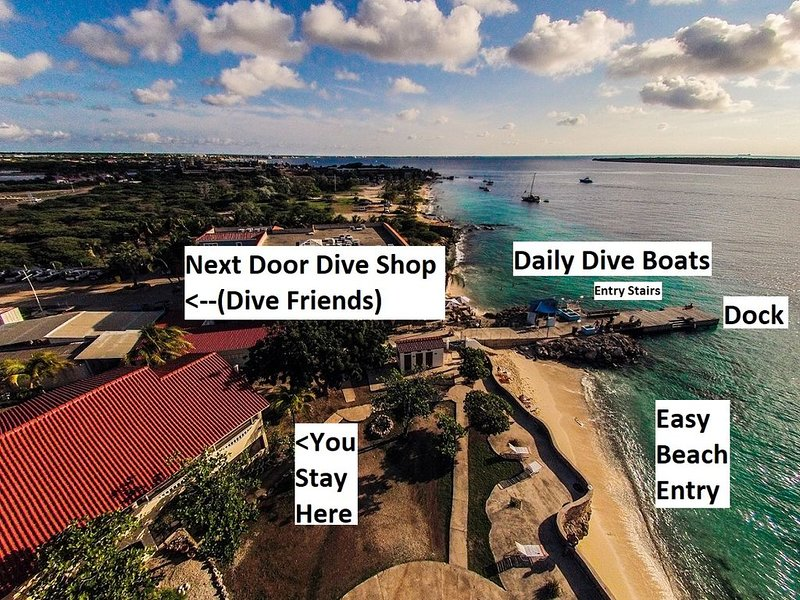 BEACHFRONT/DOCK/DIVE SHOP/Sand Dollar - 1 Bdrm, location de vacances à Bonaire