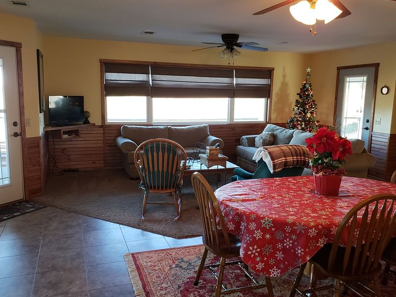I decorate for the holidays! Enjoy Christmas at our beautiful Cottage rental.