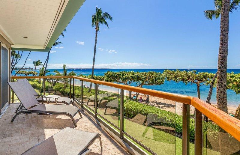 West Maui's Hidden Beachfront Gem – Puunoa Beach Estates #205 – Luxurious 3BR Vi, holiday rental in Lanai