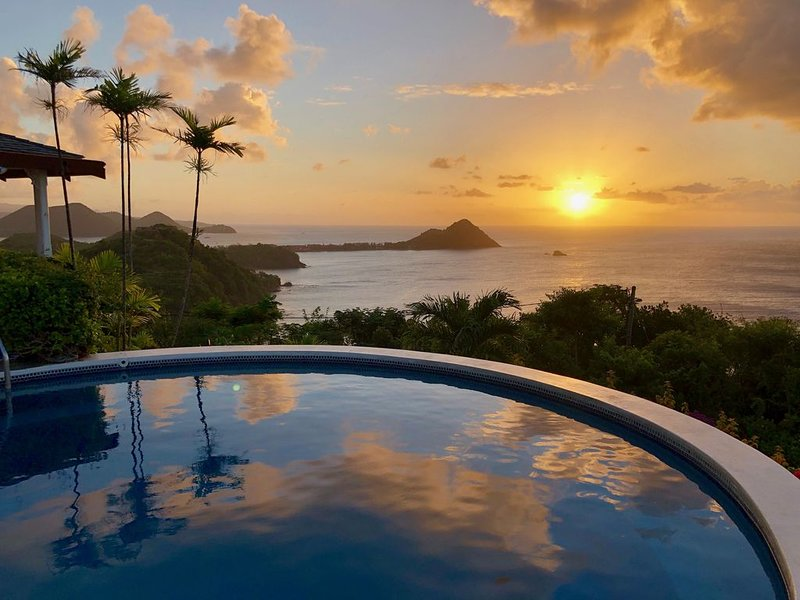 Villa Albatross Nest with Stunning Panoramic Sea View – semesterbostad i Gros Islet