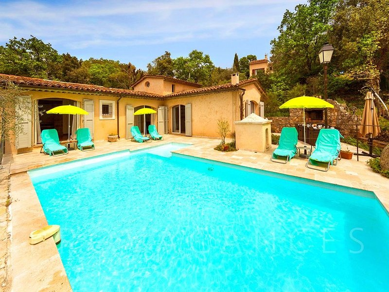 Nice villa with heated salt pool, sauna and fitness room, holiday rental in Cabris