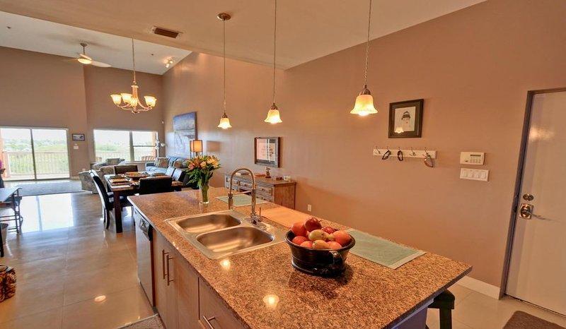 Diseño de cocina, comedor, salas de estar.